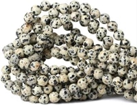 dalmatian jasper loose beads natural gemstone smooth round for jewelry making