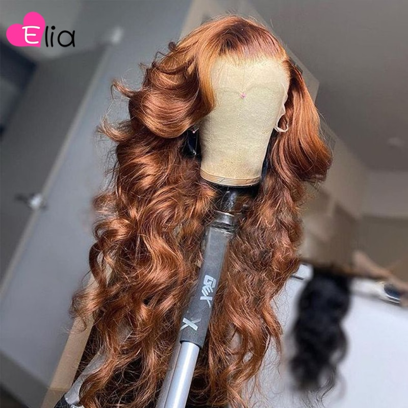 Elia Brown Lace Front Wig Body Wave Human Hair Wigs Remy Peruvian Hair Pre Plucked For Black Women Free Shipping Wholesale Price