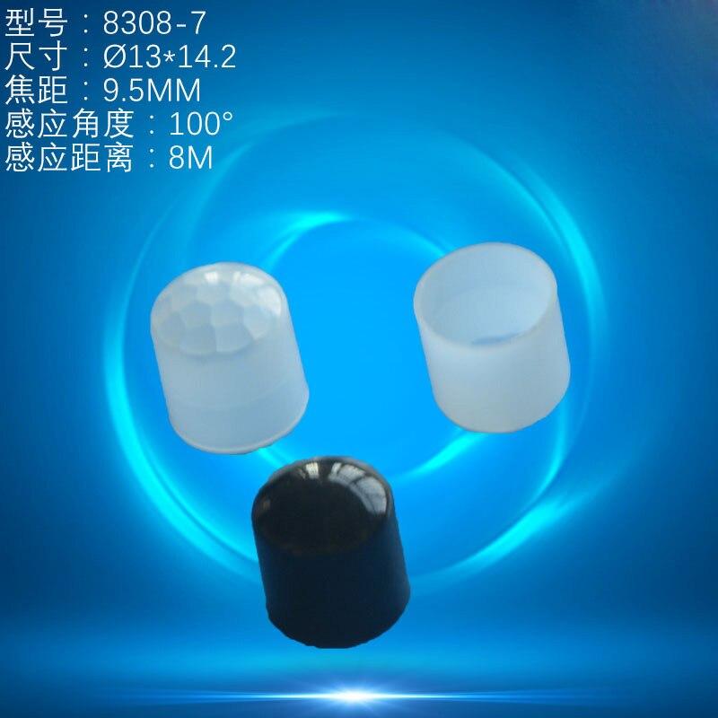 10 Uds sensor infrarrojo del cuerpo humano Fresnel lente HDPE PIR termoluminiscente infrarrojo de inducción de la lente distancia de detección 8m 10 Uds