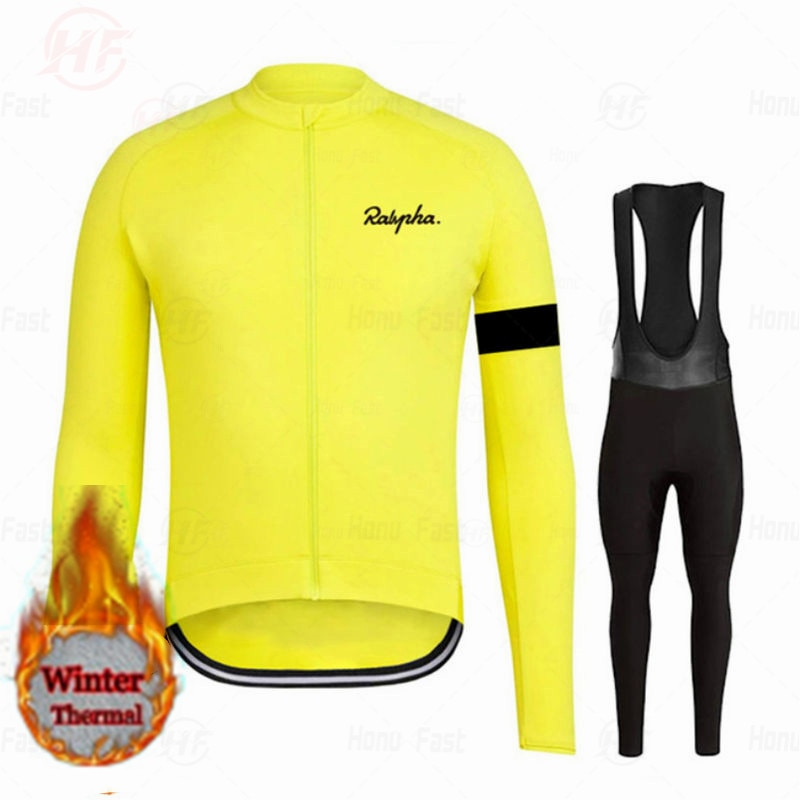 Conjunto de camisetas de Ciclismo profesional, Ropa térmica de lana para Invierno,...