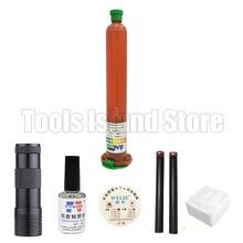 tp-2500 50ML LOCA UV glue with Glue Remover Dispergator Screen glue Golden Cutting Wire and clean clothes wipes 9 LED lamp