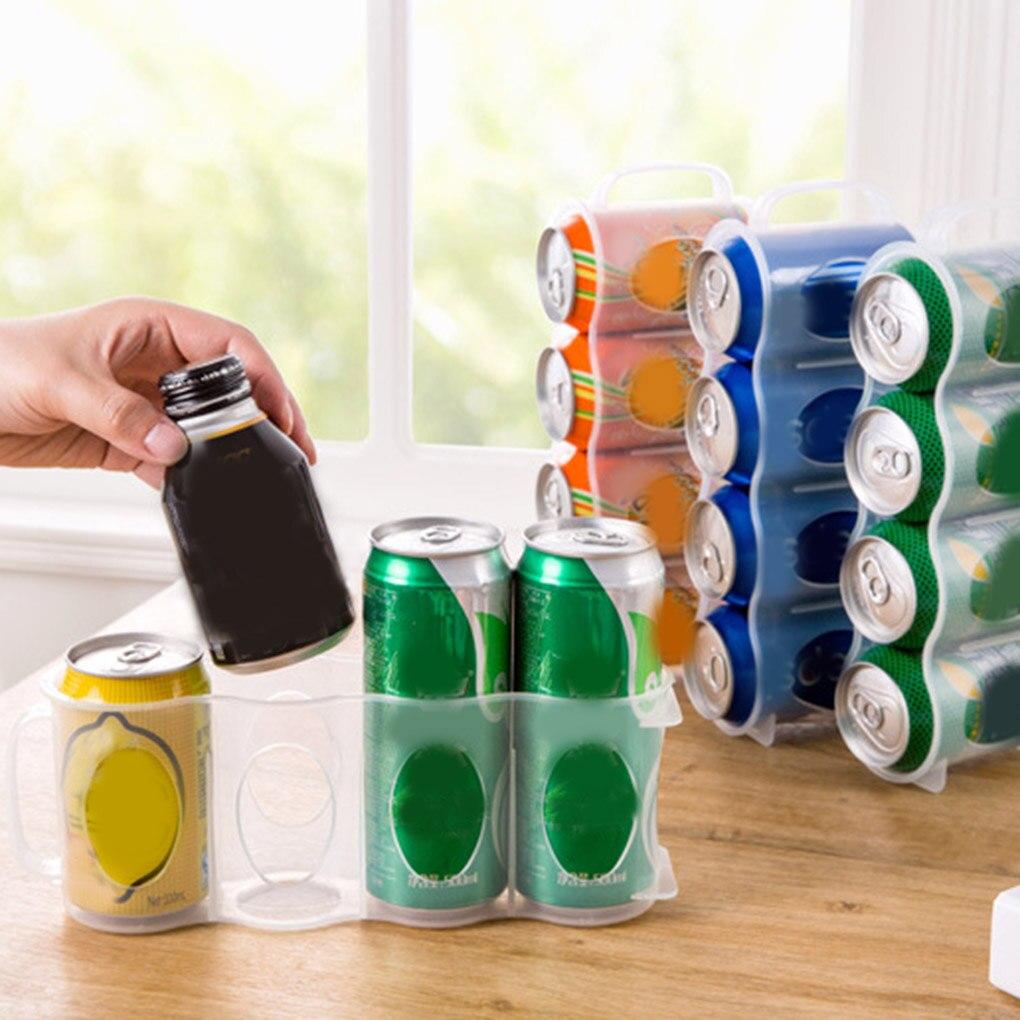 Soda Can Beverage Storage Box Fridge For Kitchen Space-saving Organizer Drink Holder Container