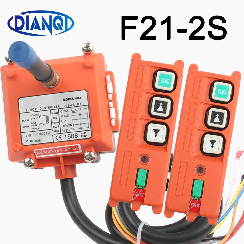 F21-2S اللاسلكية الصناعية تحكم عن بعد رافعة كهربائية التحكم لف المحرك ساندبلاست مفاتيح الراديو المستخدمة