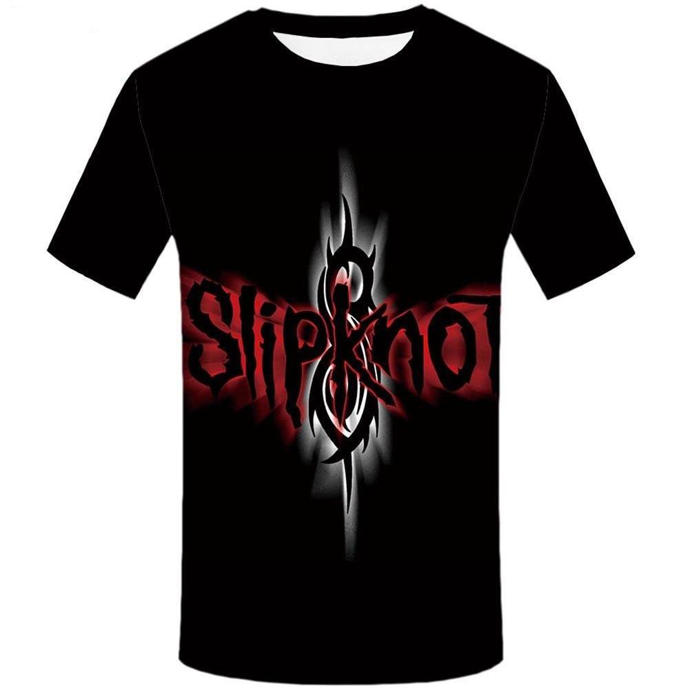 Nueva camiseta Casual con estampado 3D de Slipknot G315 de alta calidad