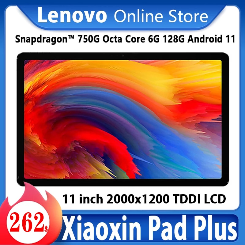 Firmware global 2021 lenovo-tablet xiaoxin pad plus, snapdragon 750g octa core, 6gb, 128gb, 11 polegadas, 2k, android 11, wi-fi