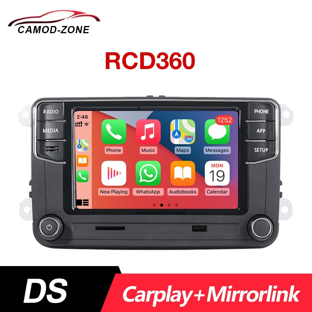 سماعات سيارة استريو DS RCD360 راديو السيارة RCD330 سماعات الرأس لـ VW Golf Polo MK5 MK6 Passat B6 B7 EOS 17G 035 280