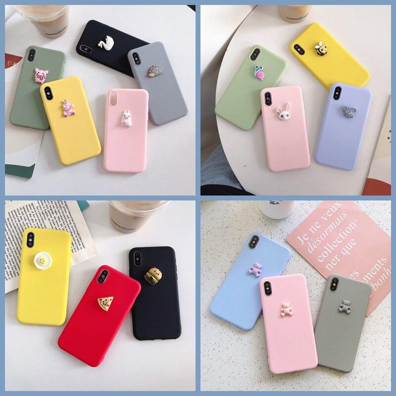 3D Cute Pig Dog Panda Bear DIY Case For Xiaomi Mi 9 Lite/CC9 CC9E/A3 Pizza Cake Cover For Xiaomi 9 SE 8 Lite Pro 5X 6X Soft Case