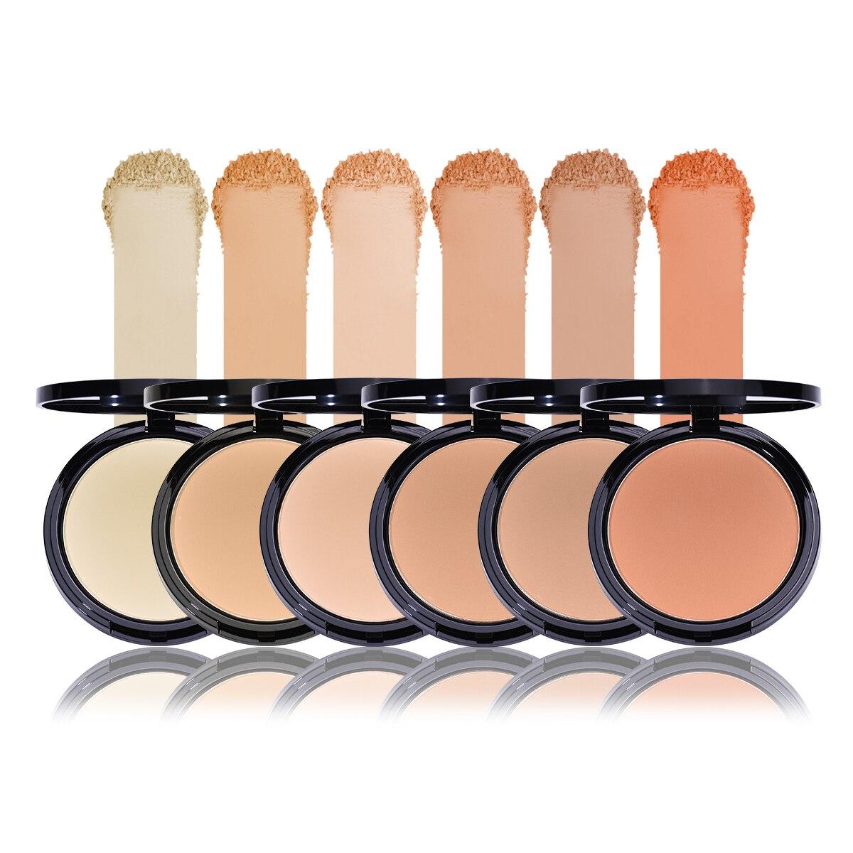 Compact Powder Oil Control Matte Makeup Setting Pressed Powder Pores Invisible Mate Make Up Natural Finish Cosmetics