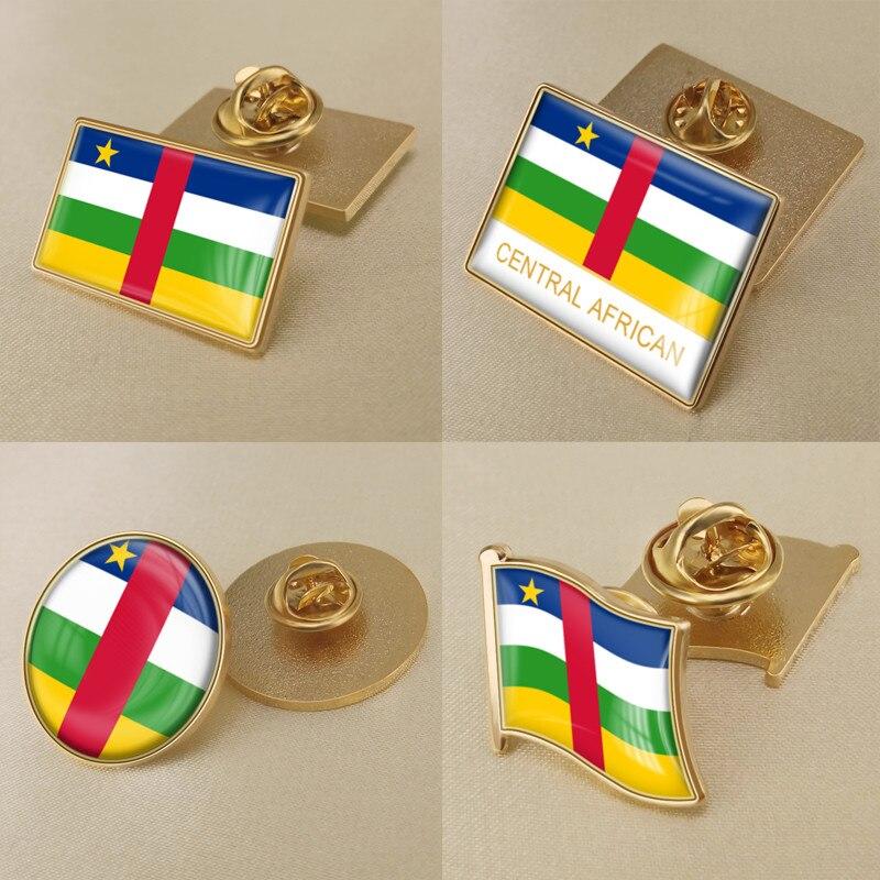 Escudo de Armas de la bandera de la República Central Africana broche emblema nacional/insignias/alfileres de solapa