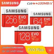 SAMSUNG Microsd Card 256G 128GB 64GB up to 95Mb/s U3 Class10 32GB U1 microSDXC/SDHC EVO Plus Micro SD Card Memory Card TF Flash