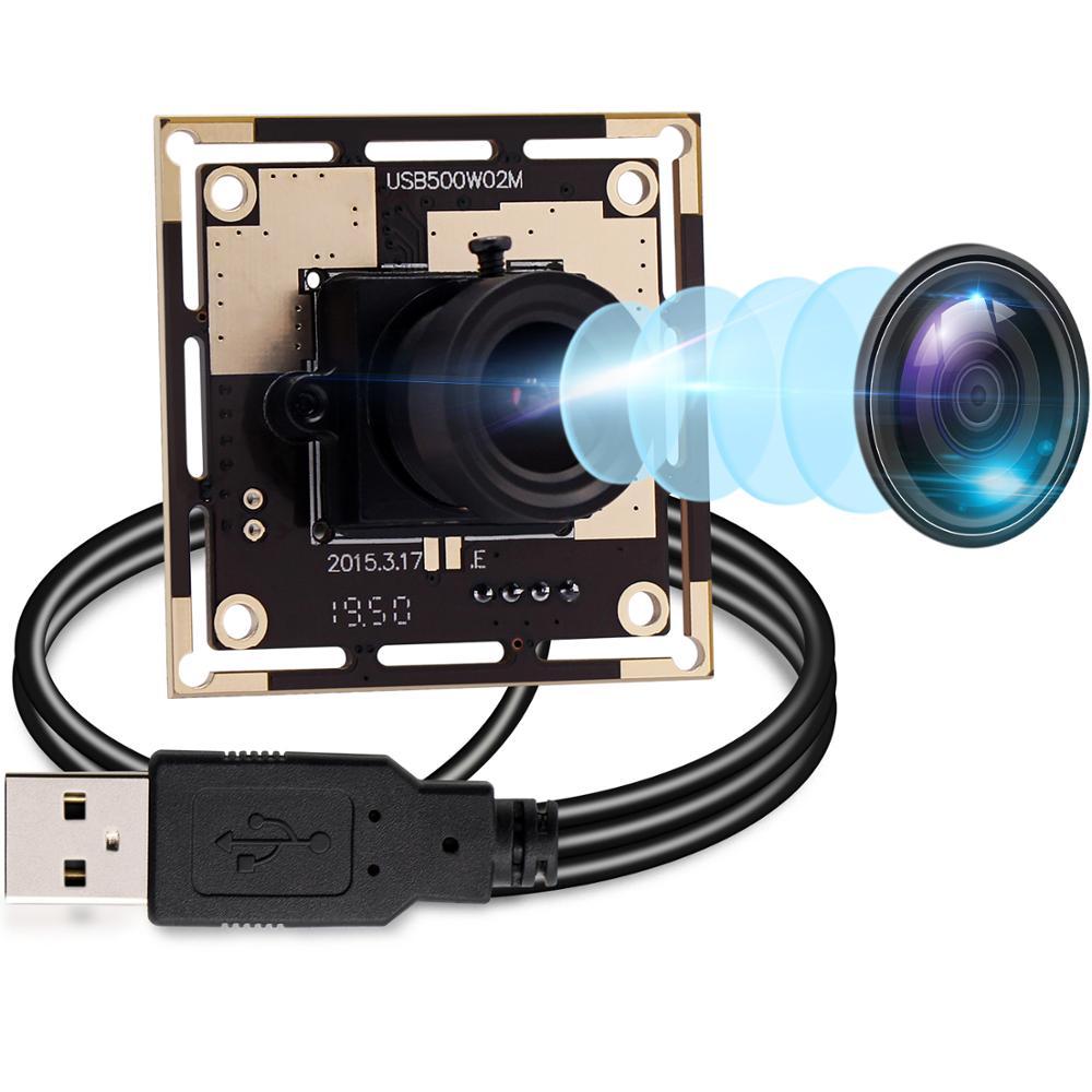 Elp 5megapixel 2592*1944 mjpeg/yuy2 hd uvc mini usb webacm cam 5mp ov5640 módulo da câmera cmos para a visão do robô/visão da máquina