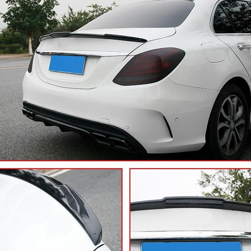 FOR New Car Spoiler Accessories Benz E-class W205 C180C200C300 Trunk Rear Lip Wing ABS Material Spoi