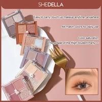 4 color pressed matte glitter eyeshadow palette waterproof long lasting eyeshadow pigment diamond shimmer nude shiny makeup