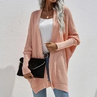 laamei oversized knitted cardigans women harajuku sweater office lady autumn 2021 korean tops casual vintage loose warm coat