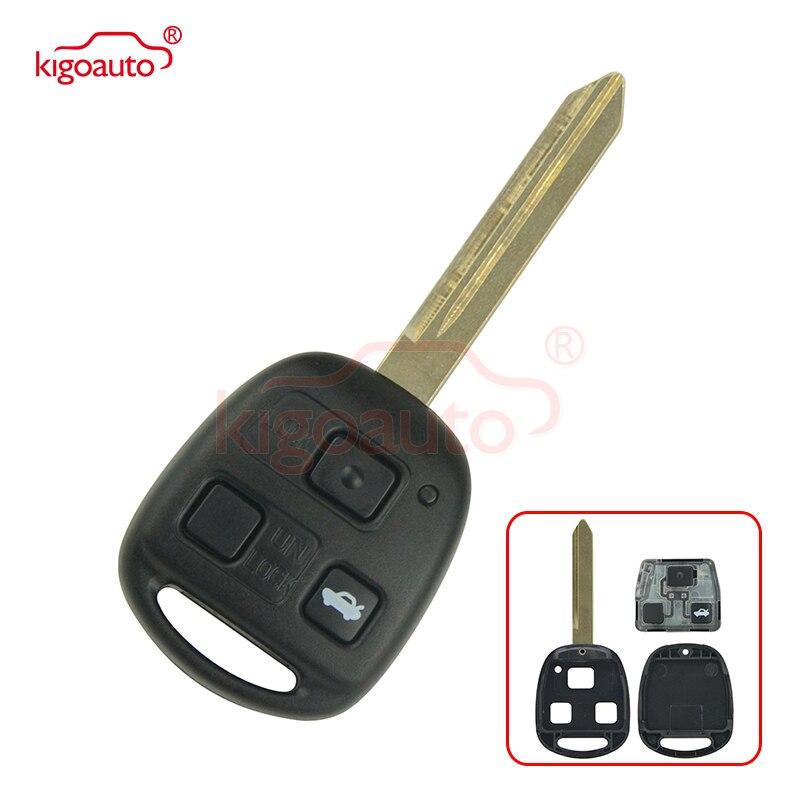 Denso(not Valeo) Kigoauto Remote key 3 button TOY47  434mhz 4D70 for Toyota Avensis 2004 2005 2006 2007 2008 2009