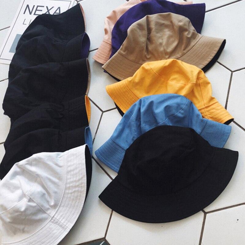 Sólido de doble cara cubo sombrero de pescador sombrero de viaje al aire libre sombrero para el sol gorra sombreros para hombres y mujeres