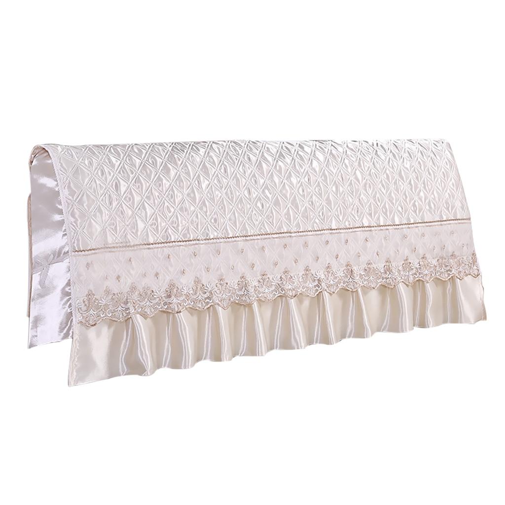 European Style Silk-like Bedroom Bed Headboard Slipcover Protector Bed Beige