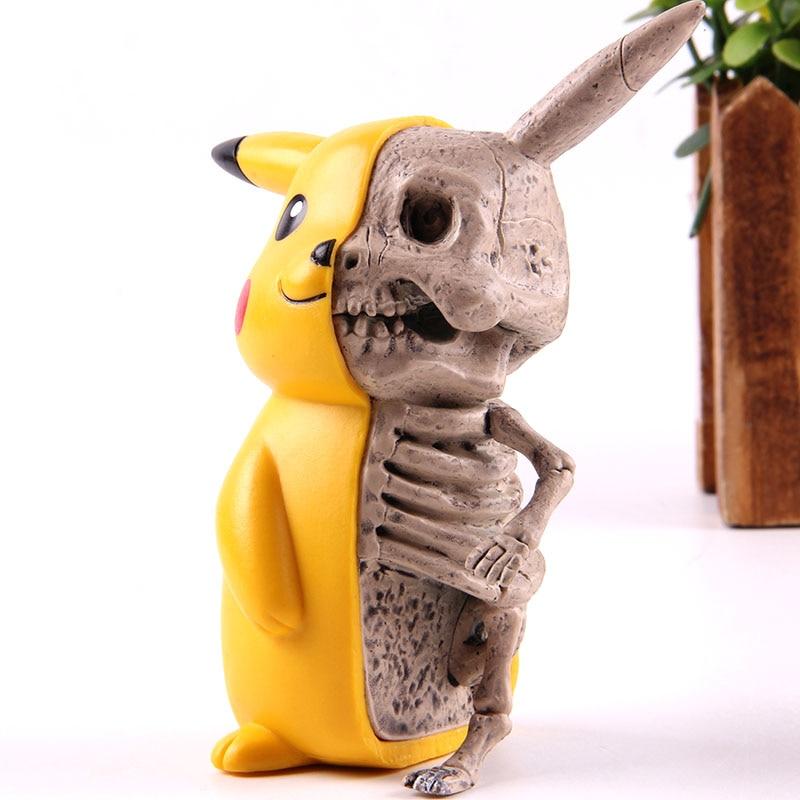 Figuras de acción de Skeleton, modelo divertido coleccionable de PVC, juguete para regalo para niños
