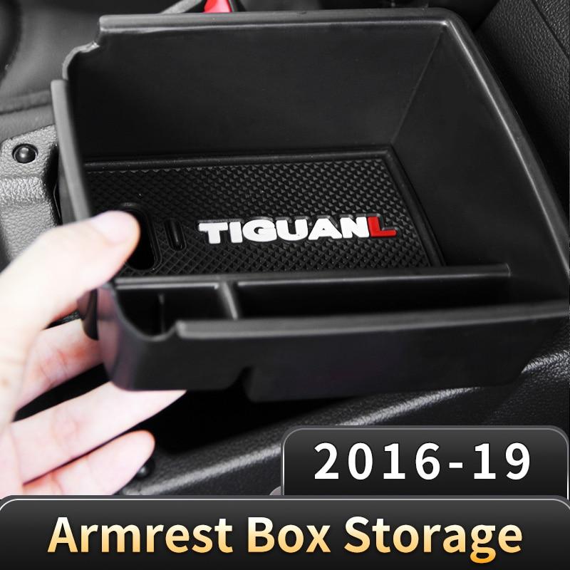 Car Armrest Center Storage Box  For Volkswagen VW Tiguan mk2 2016 2017 2018 2019 2020 car accessories