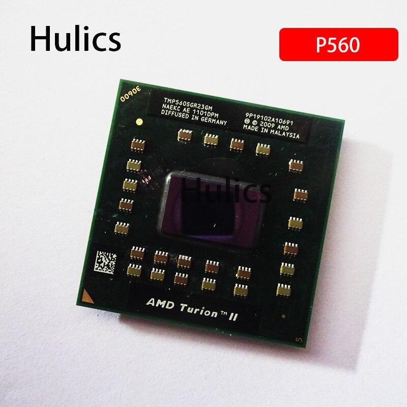 Hulics-معالج AMD Turion II ، أصلي ، ثنائي النواة ، P560 ، 2.5 جيجاهرتز ، وحدة المعالجة المركزية TMP560SGR23GM ، مقبس S1