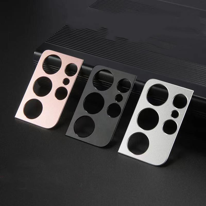2-1pcs Metal Camera Cover Lens Frame for Samsung Galaxy S21 Ultra Plus Camera Protectors Lens Case f