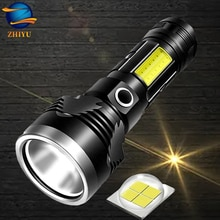 ZHIYU P50 Strong light rechargeable flashlight 3 light modes built-in battery stable portable torch waterproof outdoor fishing