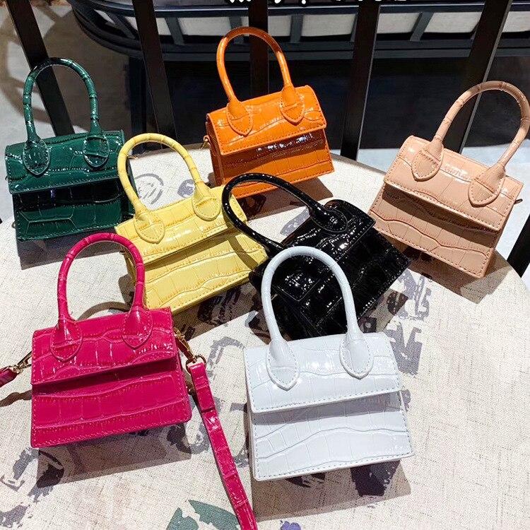 2020 Fashion Mini Small Square Bag New Quality PU Leather Women's Handbag Crocodile Pattern Chain Shoulder Messenger Bags Bolsas