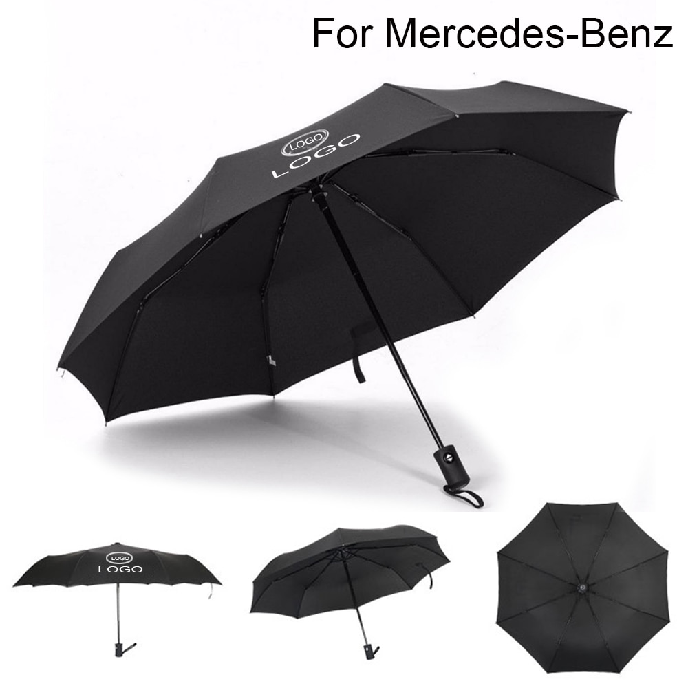 For Mercedes Benz Logo Windproof Fully Automatic Business Umbrella Wind Resistant Folding Travel Umb