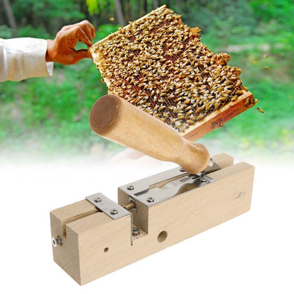 Perforadora de agujeros para apicultura peines perforadora práctica para colmena de madera de abeja marco punzón para ojal