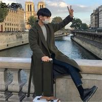 Мужское зимнее шерстяное пальто BOLUBAO, повседневное утепленное пальто