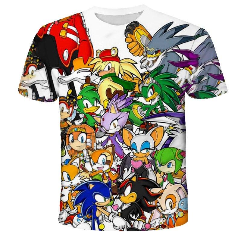 AliExpress - 4-14T 2021Summer Kids Clothes Short Sleeve 3D Printed Sonic T Shirt For Streetwear Teenager Xxx Boys And Girls Anime Cartoon Top