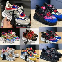 Designer Sneakers Running Shoes For Men Women Link-Embossed Sole Luxury Shoes Rubber Suede Trainers