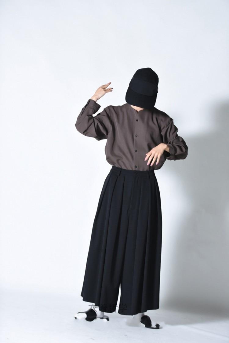 Men's casual pants wide leg pants skirt pants ultra loose pleated dark tide male youth fashion new urban fashion