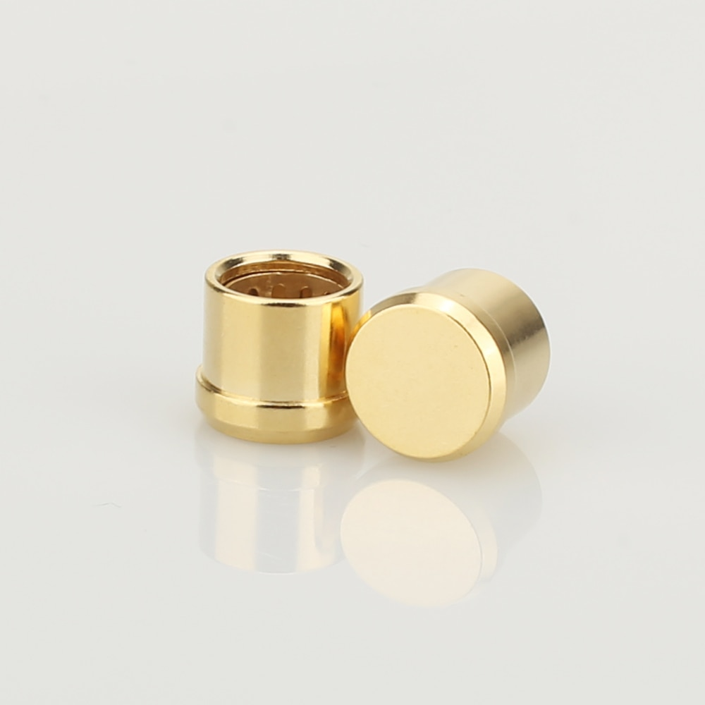 16Pcs Gold Plated RCA Cap Plug Short-Circuit Socket Phono Connector RCA Shielding jack socket protect cover caps
