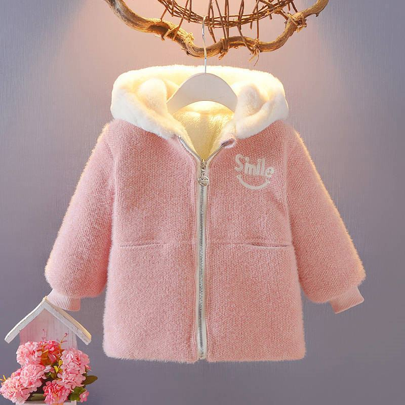 2020 New Fashion Winter Children Comfortable Soft Warm Jacket Snowsuit Clothing Baby Girl Solid Cute Coat Kids Smile Clothes W78 enlarge