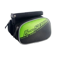 bicycle front top tube bag bike storage bag large capacity for 5 5 inch mobile phone zipper bag for outdoor riding