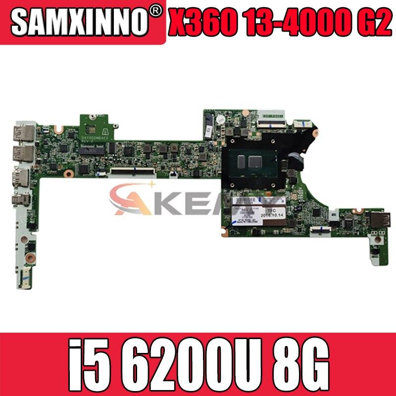 DAY0DDMBAE0 ل HP سبكتر X360 13-4000 G2 13-4100 13-4102TU اللوحة المحمول 849426-601 849426-501 849426-001 i5 6200U 8G