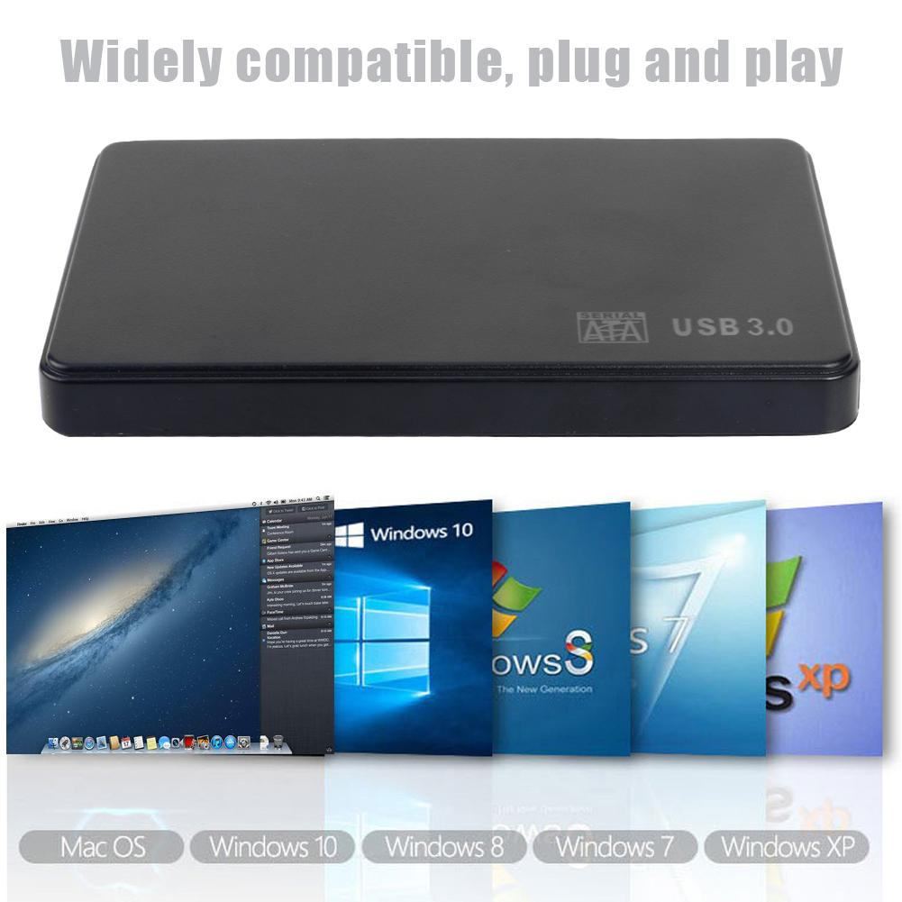 2.5 inch Hard Drive Case SATA USB3.0 Adapter 5Gbps External Hard Drive Enclosure Transmission Speed up to 5GB/sec