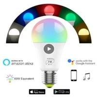 Magic     ampoule intelligente 7W E27 RGB Led WIFI  lampe domotique sans fil  Compatible avec ALexa Google Home
