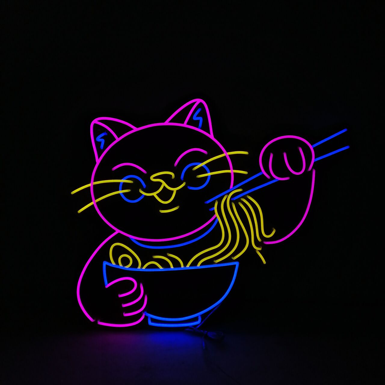 Neon Light Night Sign for Lucky Cat Hotel Display Neon Lights Room Decoration Glass Lamp Advertise Letrero Neon enlarge