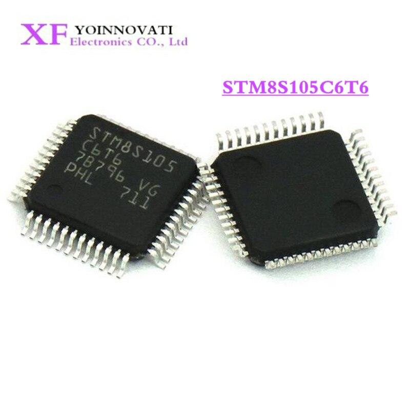 50 Uds STM8S105C6T6 STM8S105 STM8S105C6 MCU 8BIT 32KB FLASH LQFP48 IC