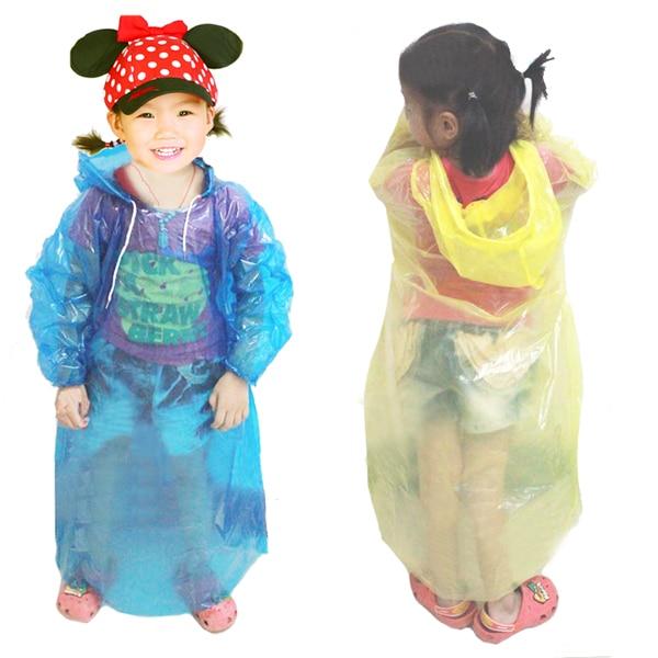 1 pçs capa de chuva para crianças menina à prova de chuva capa de chuva impermeável menino rainwear jardim de infância do bebê crianças rainsuit cor aleatória