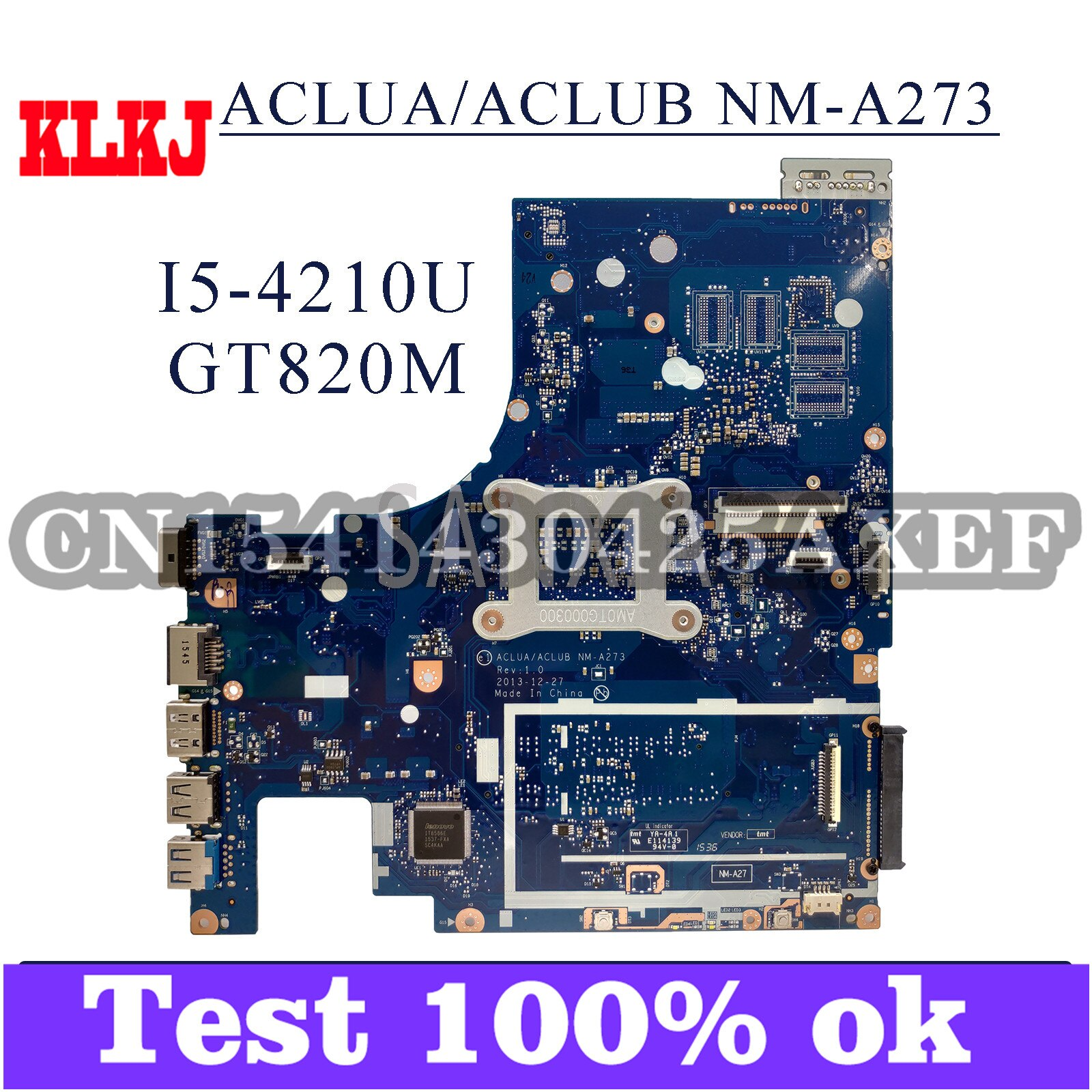 KLKJ NM-A273 اللوحة المحمول لينوفو G50-70M Z50-70 اللوحة الأصلية I5-4210U GT820M