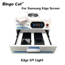 Высокоэффективная ультрафиолетовая лампа с краями, 1000 Вт, без волн, пузырьковый обратный раствор для Samsung, iPhone, стекло OCA, ремонт жк экрана, УФ свет