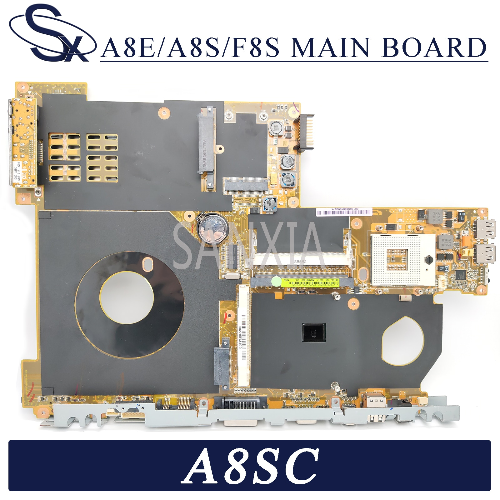 KEFU A8E/A8S/F8S Laptop motherboard for ASUS A8SC original motherboard