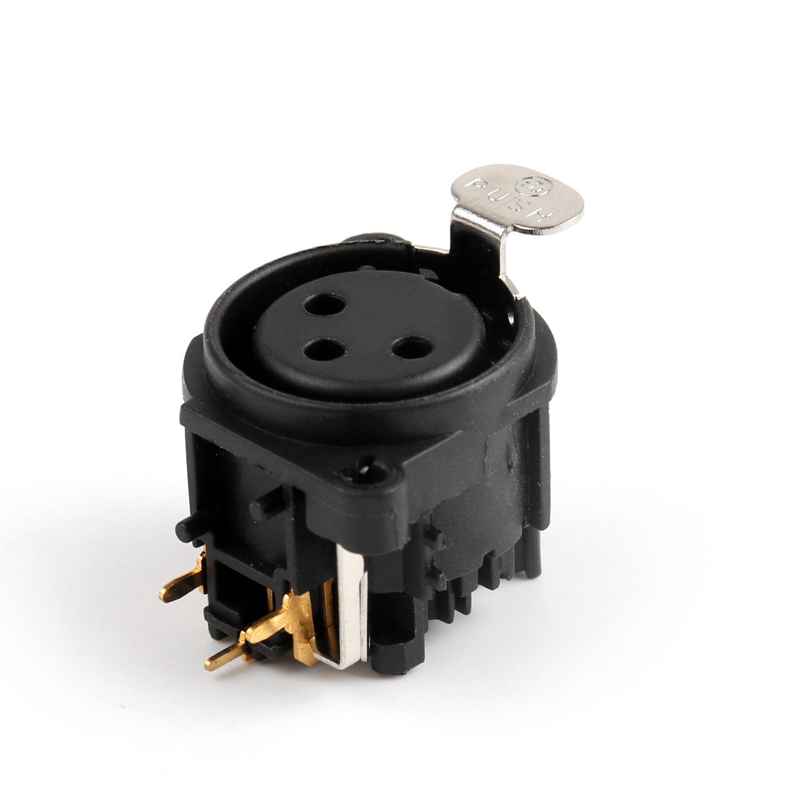 Artudatech-موصل لوحة PCB ، 3 أقطاب ، للميكروفون ، الجيتار ، XLR ، أنثى ، 100 قطعة