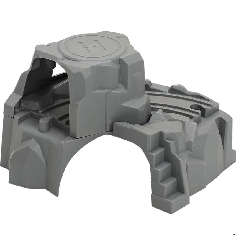 Plastic Grey Double Tunnel Wooden Train Track Accessories For baby toys