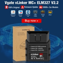 BT OBD2 Scanner Vgate vLinker MC+ BLE ELM327 For Android/IOS/Windows ELM 327 wifi Car Diagnostic Scan Tool PK OBDLINK MC