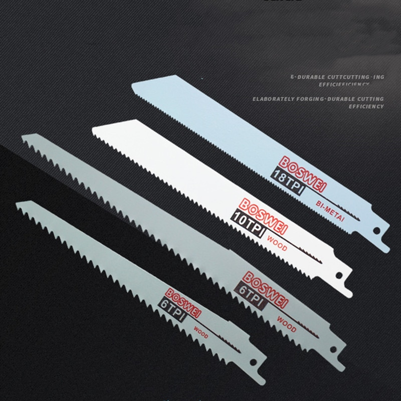 10 Pcs Reciprocating Saw Blade Hand Saw Blade Saber Saw Blade for Wood Metal Alternating Saw Power Tool Accessories Woodworking