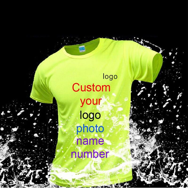 Sua própria marca de design logotipo/imagem personalizado homens diy esporte t camisa de manga curta casual camiseta topos t correndo tranning camisas